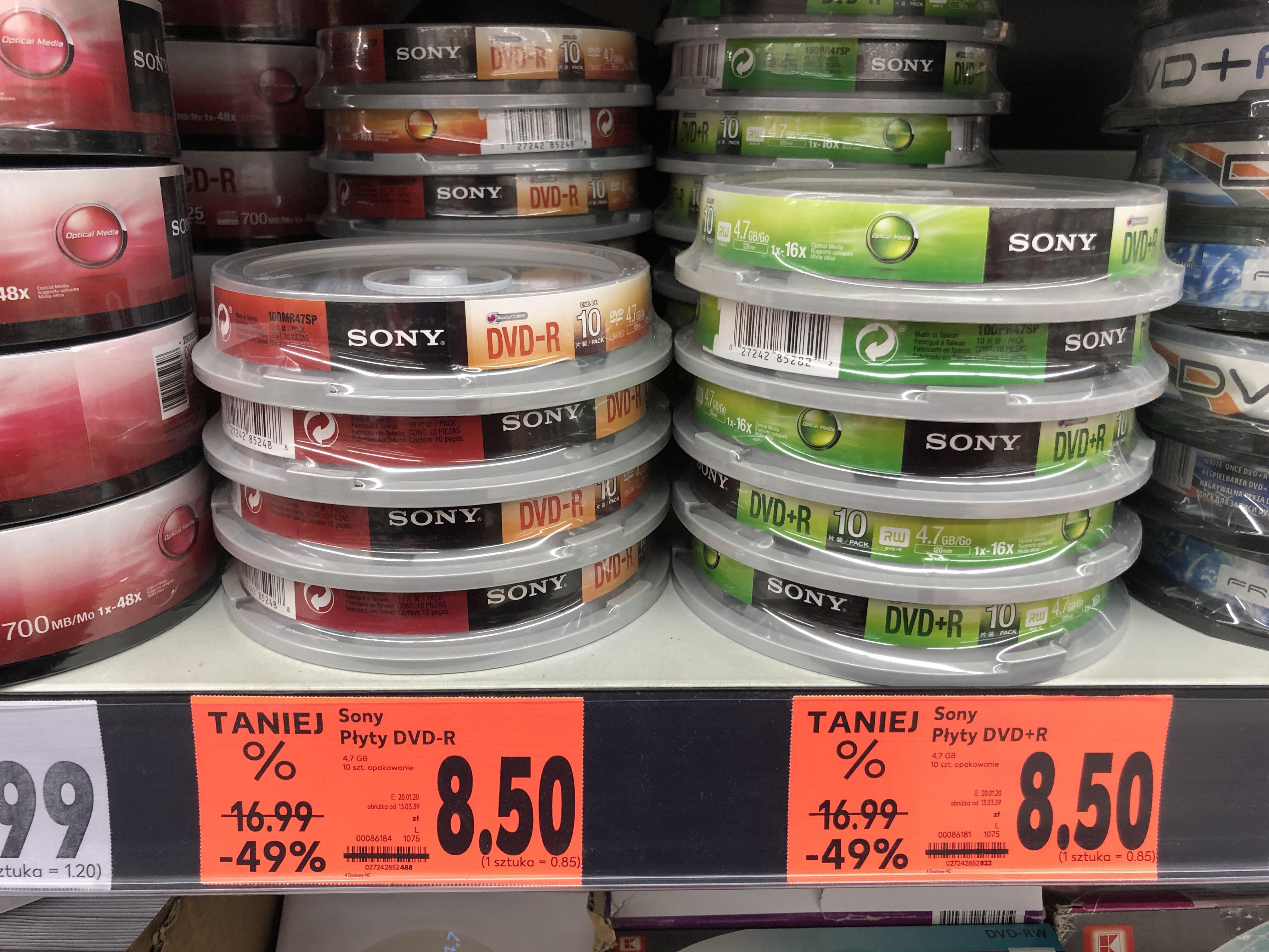 Płyty DVD+R / DVD-R SONY Kaufland