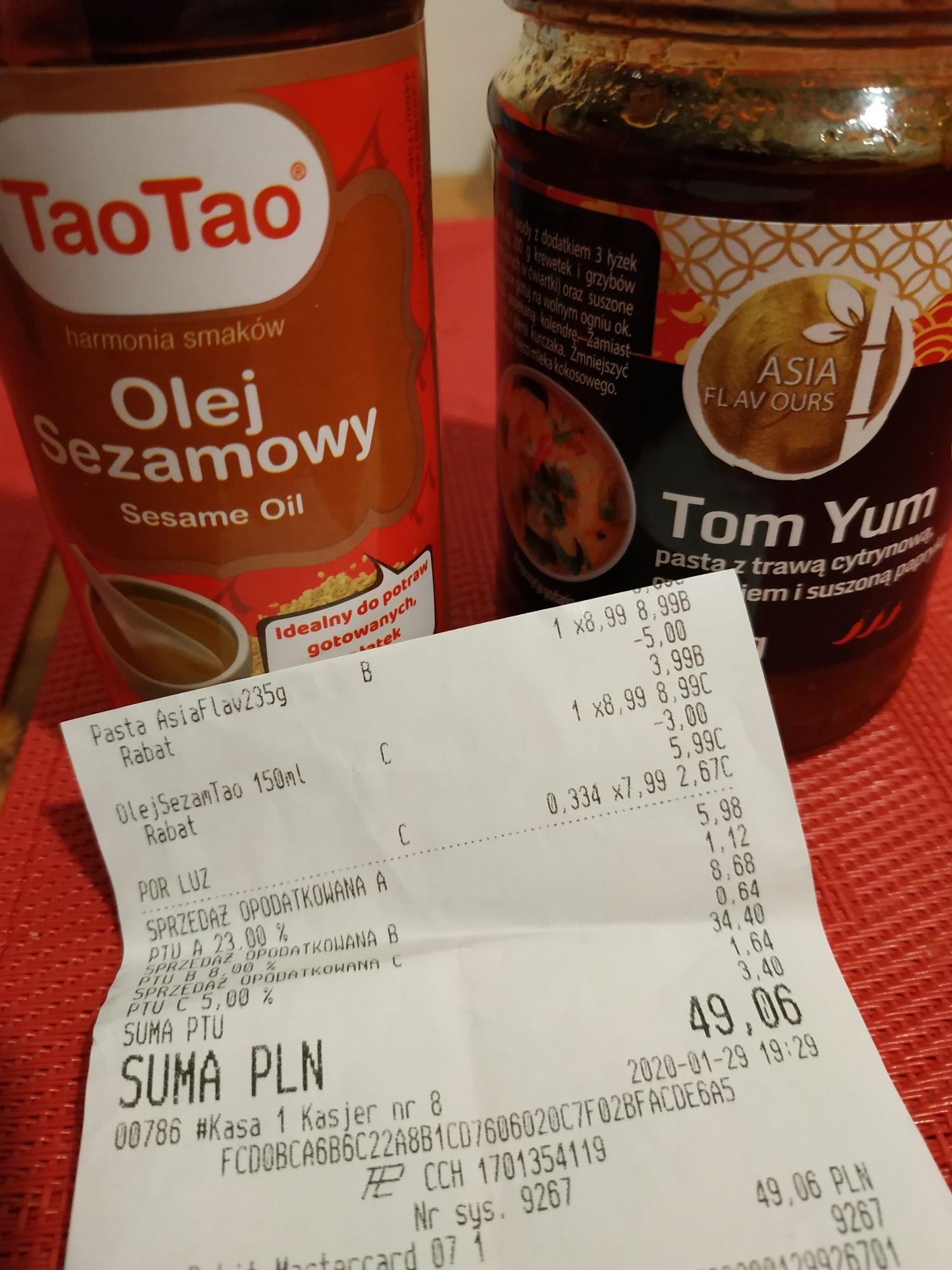 Olej sezamowy TaoTao 150ml Biedronka