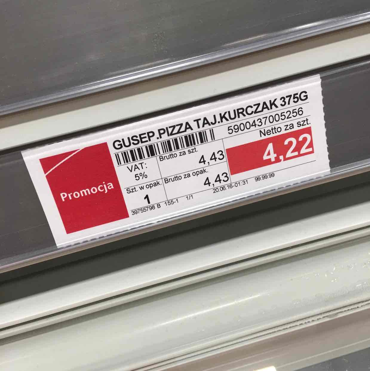 Pizza Guseppe za 4,43zł, każdy rodzaj