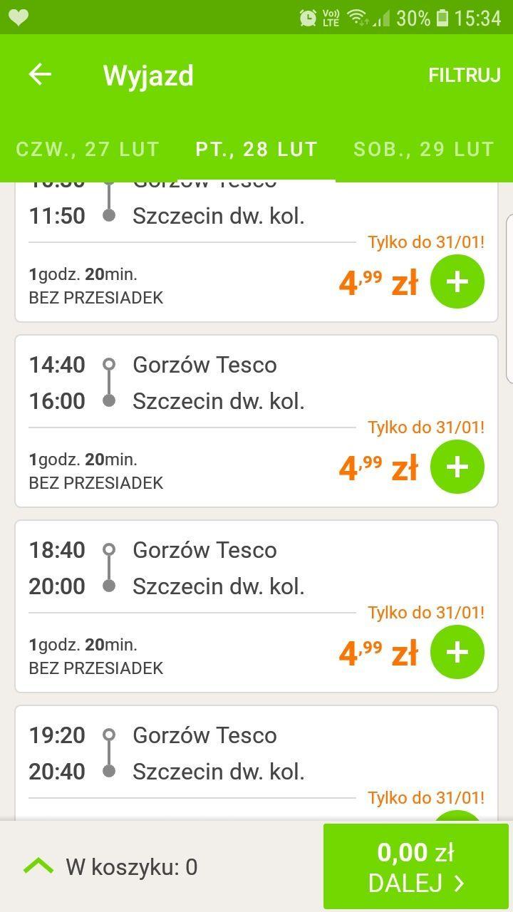 Flixbus bilety po 4,99 lub 9,99