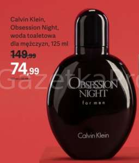 ROSSMANN: Woda toaletowa Calvin Klein Obsession Night Men 125 ml