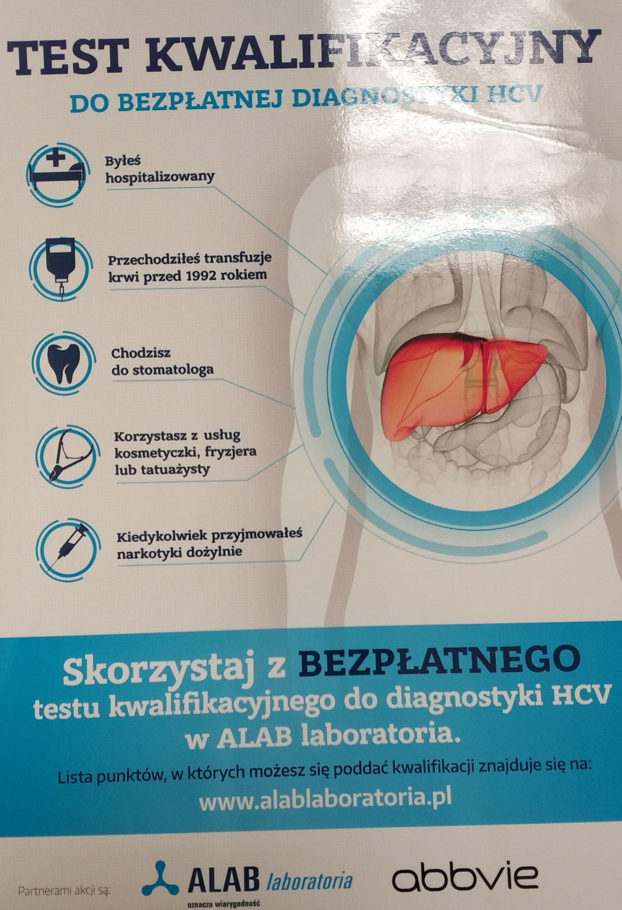 Bezpłatne badanie HCV