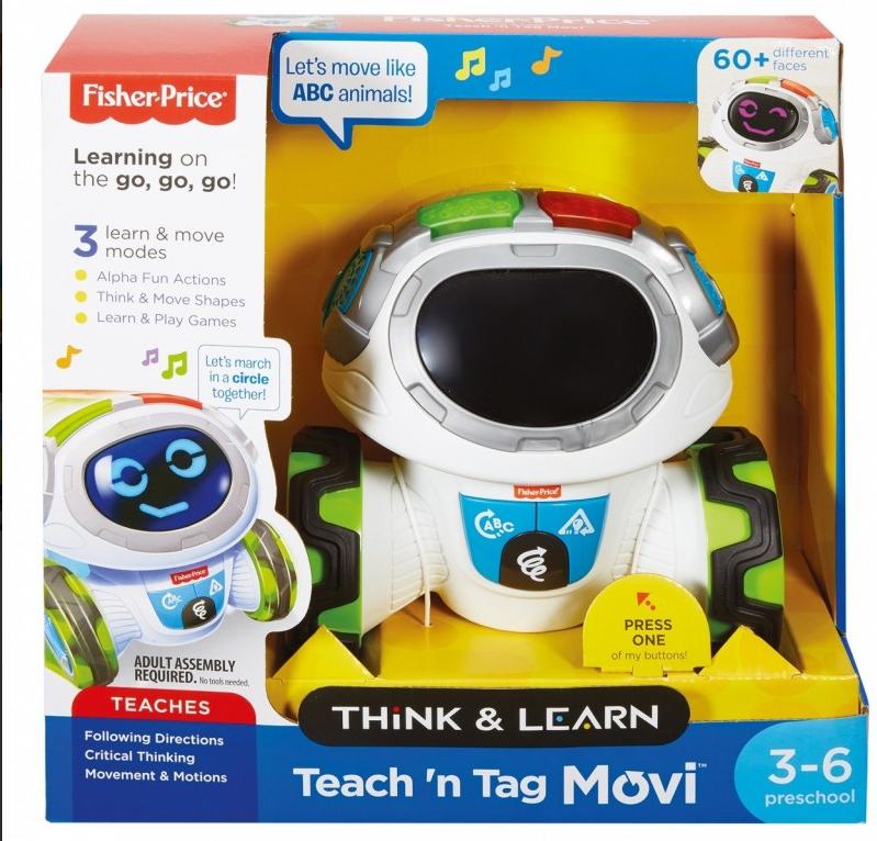 Zabawka edukacyjna Fisher-Price, robot FKC36 Movi mistrz zabawy 3-6 lat