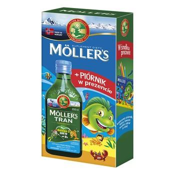 Mollers Tran Norweski, aromat owocowy, 250 ml + piórnik GRATIS