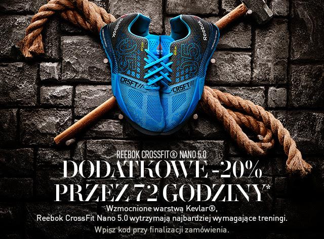20% dodatkowego rabatu na buty Reebok CrossFit Nano 5.0 + darmowa dostawa @ Reebok