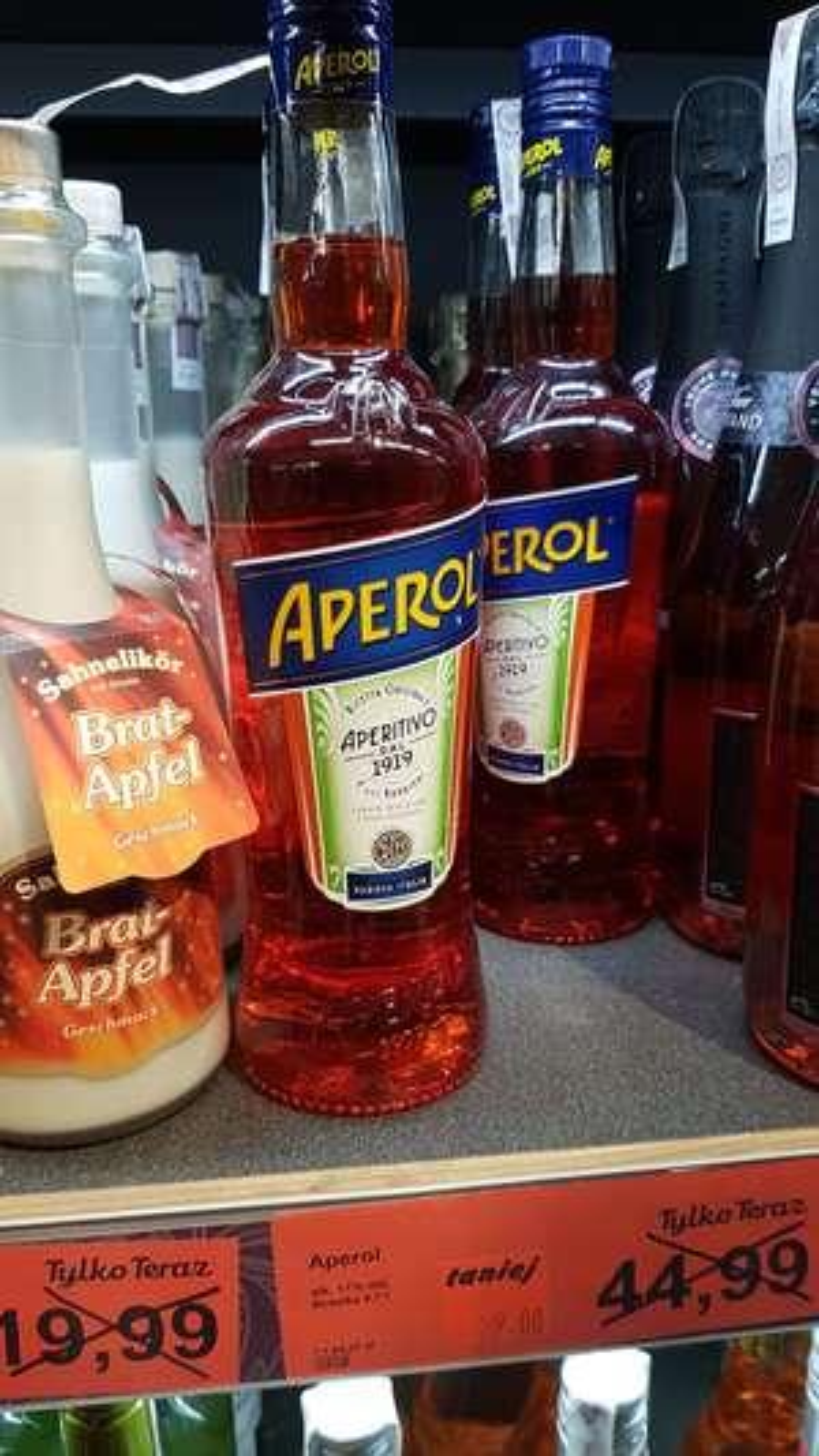 Aperol likier 0,7L w Aldi