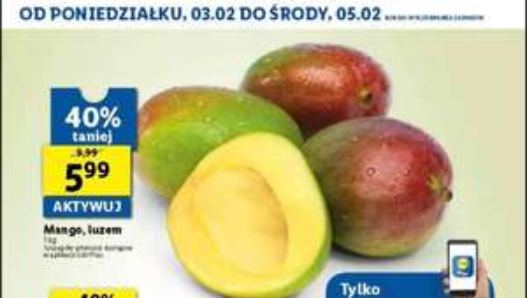 Mango 5.99 za kg! Lidl