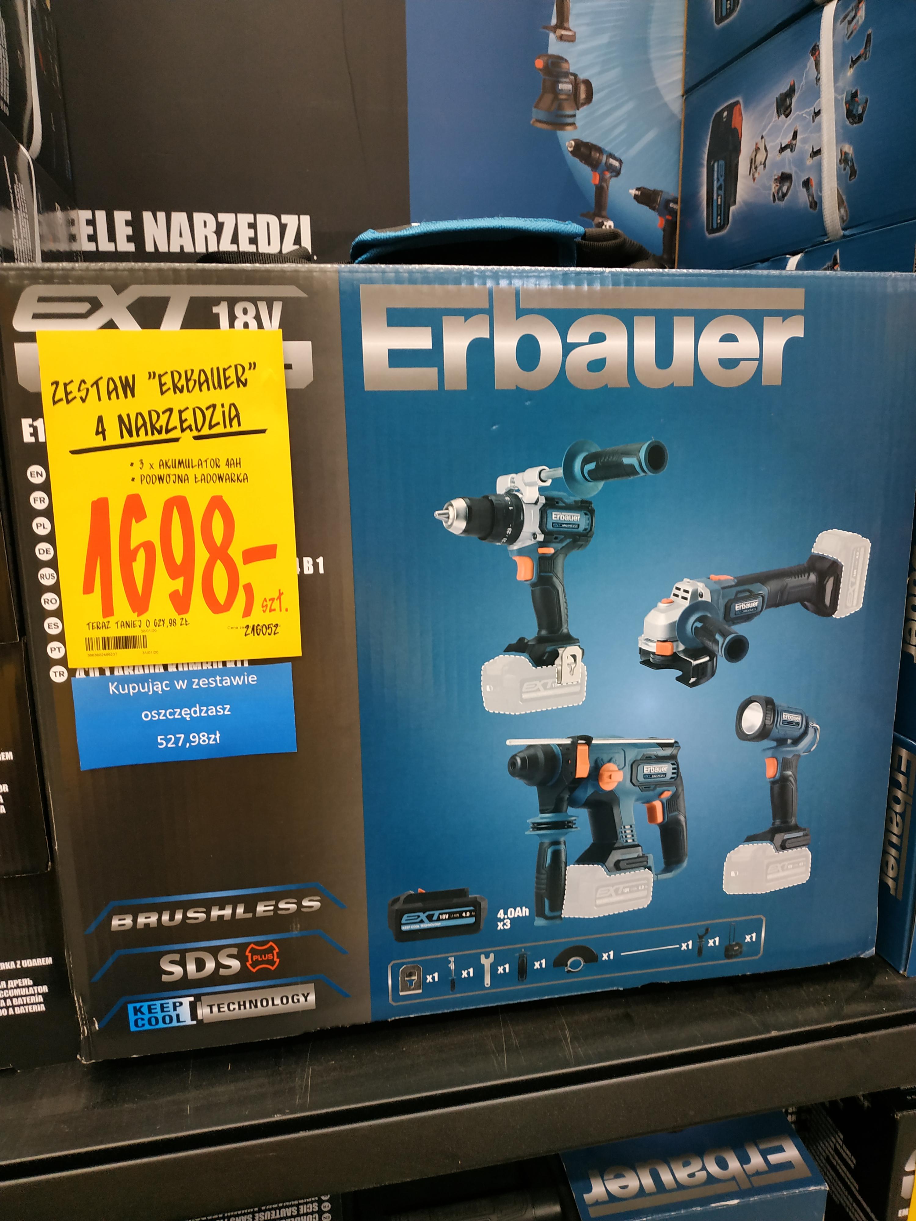 Zestaw narzędzi akumulatorowych Erbauer