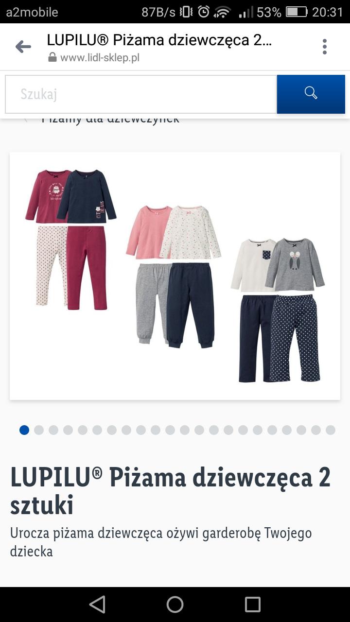 Lupilu piżama dziewczęca 2 sztuki