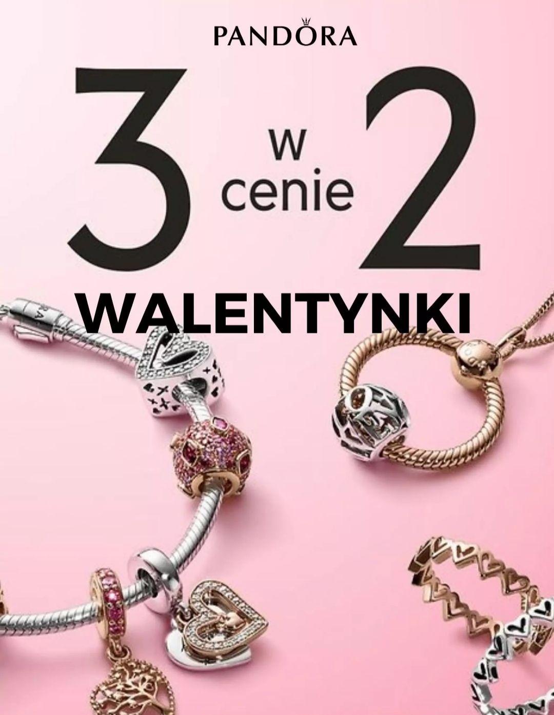 Pandora 3 w cenie 2 na Walentynki