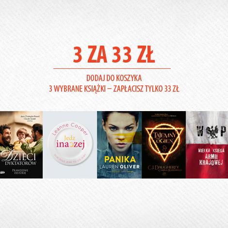 Trzy książki za 33zł @ Znak