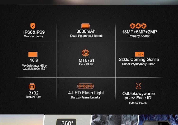OUKITEL WP5 4G Smartphone 8000mAh