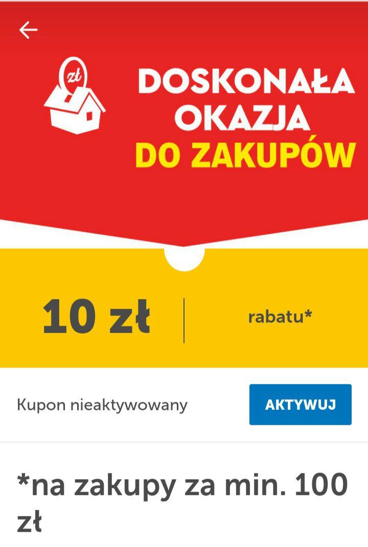Lidl - 10 zł rabatu za zakupy za min. 100 zł z kuponem z aplikacji Lidl+