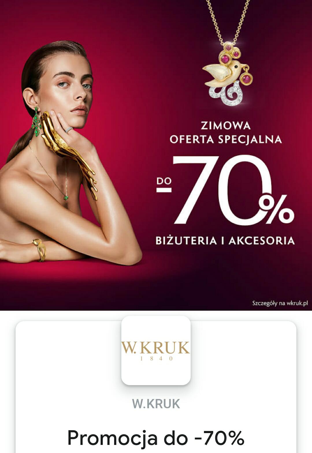 KRUK biżuteria i akcesoria do 70% taniej