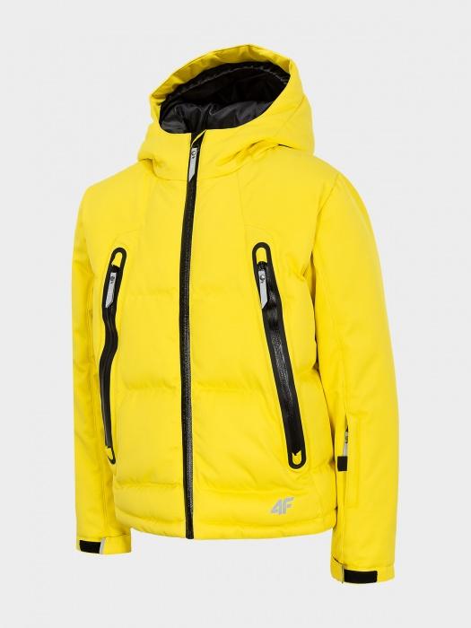 Kurtka narciarska chłopcy 4F żółta
