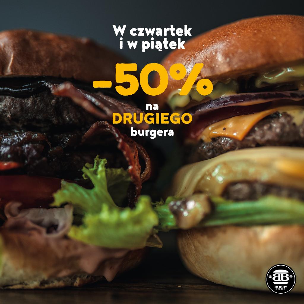 Bobby Burger Kielce -50% na drugiego burgera