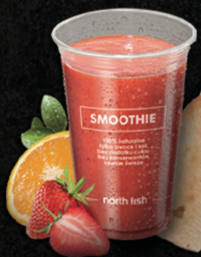 Dowolne smoothie w North Fish z aplikacją