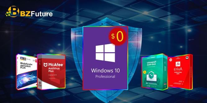 McAfee Antivirus + darmowy klucz Windows 10 Pro