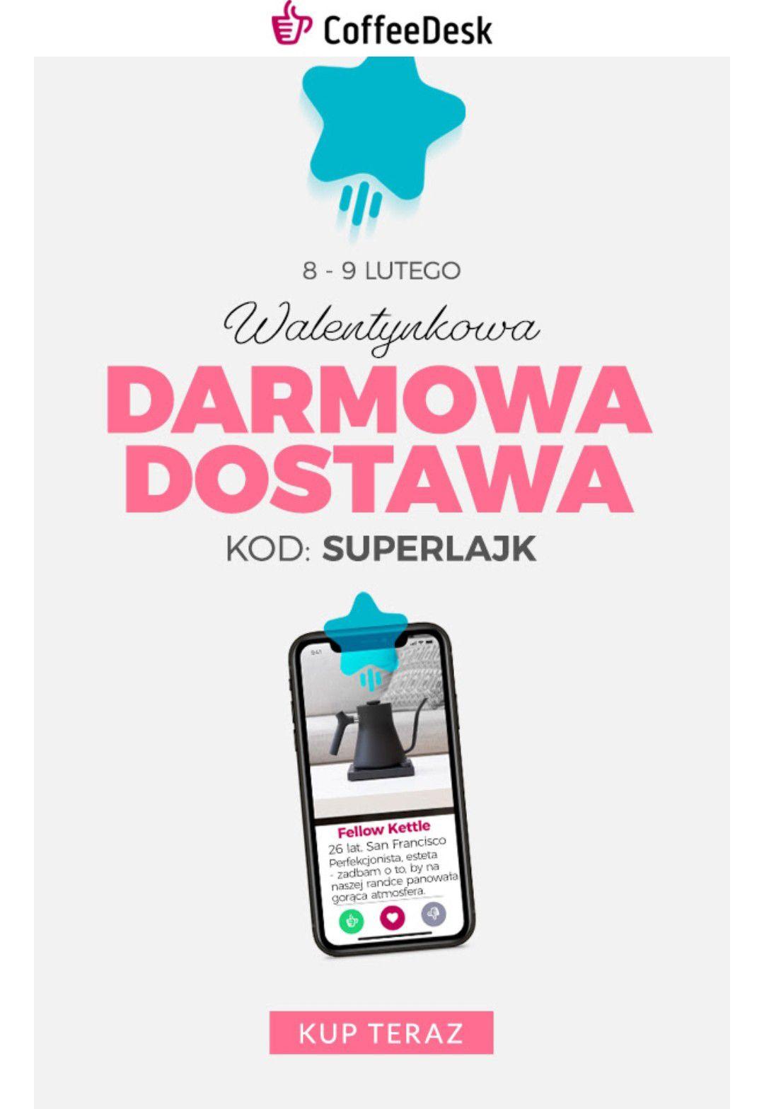 Darmowa dostawa @coffedesk bez MWZ