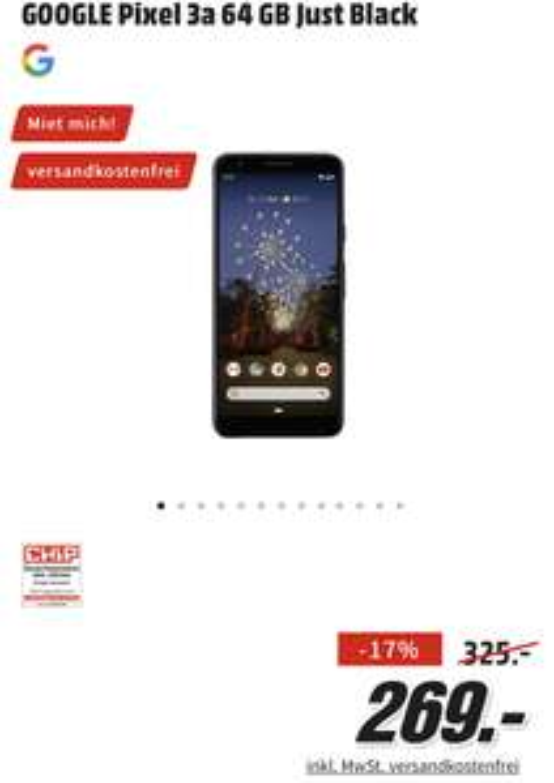 Telefon Google Pixel 3a czarny z MediaMarkt.DE + mailbox