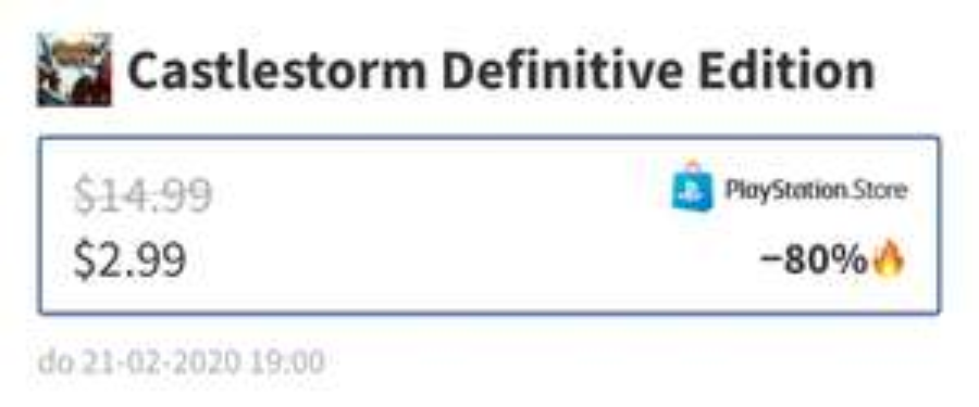 Castlestorm Definitive na PS4 US $2.99