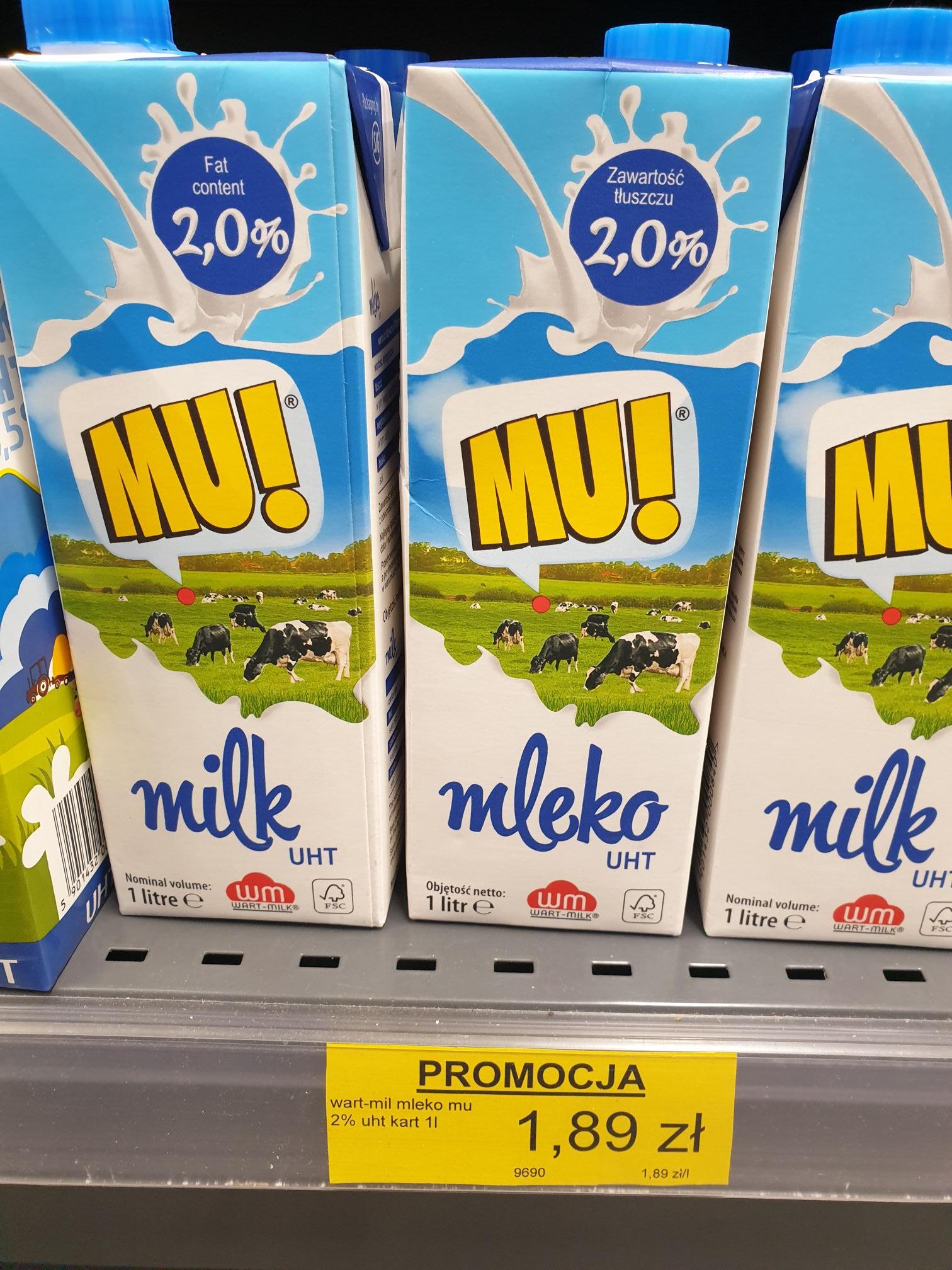 Mleko MU! 2% Lewiatan 1,89zł