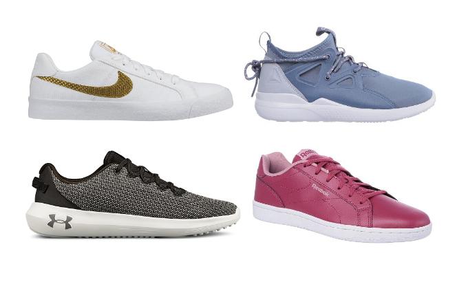 Buty sportowe Damskie - biała podeszwa: Nike, Reebok, Under Armour