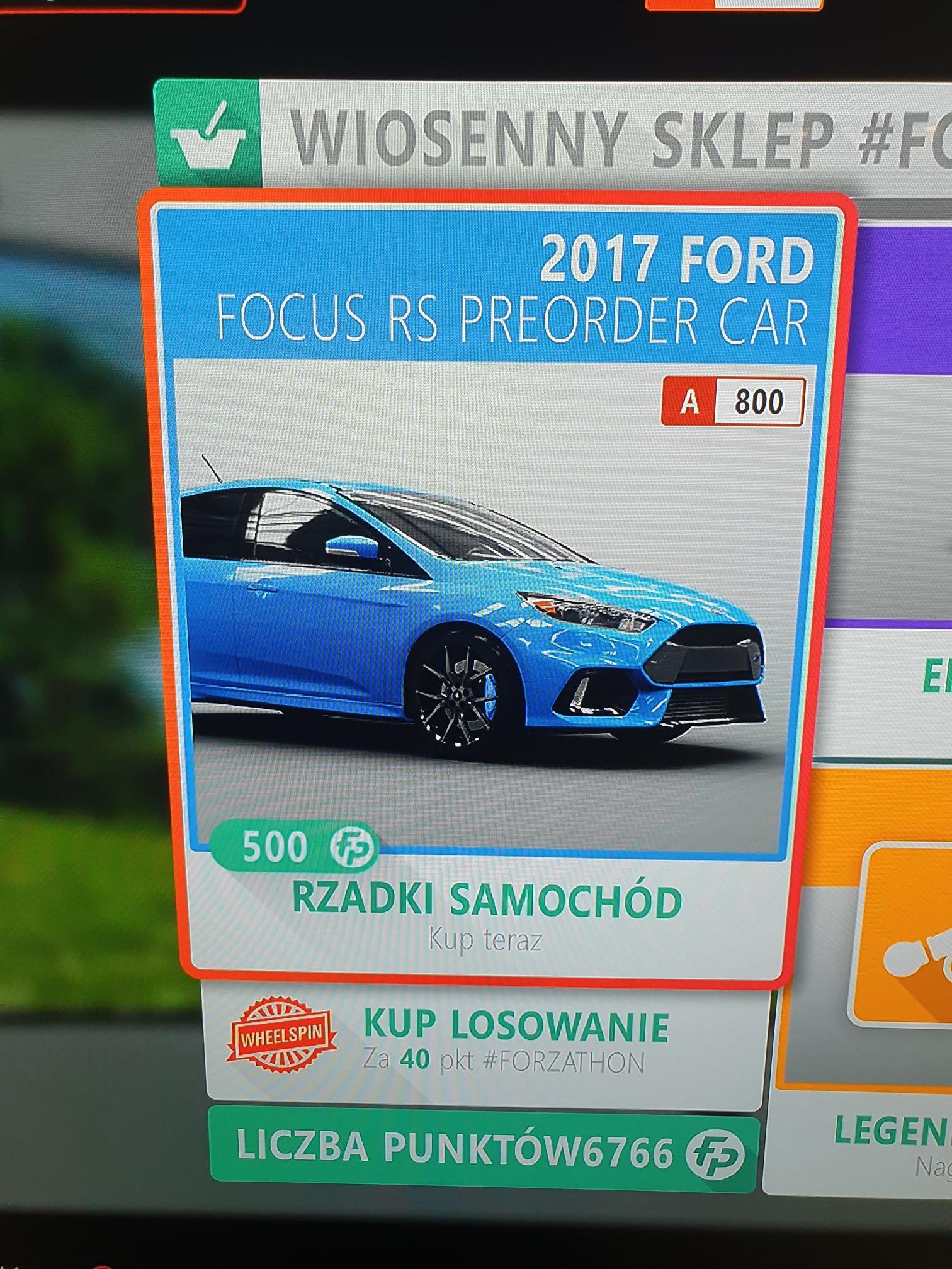 Forza Horizon 4 - Focus RS PREORDER CAR - 500 Forza Points