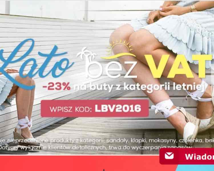 23% @czasnabuty - Lato bez VAT na buty z kategorii letniej