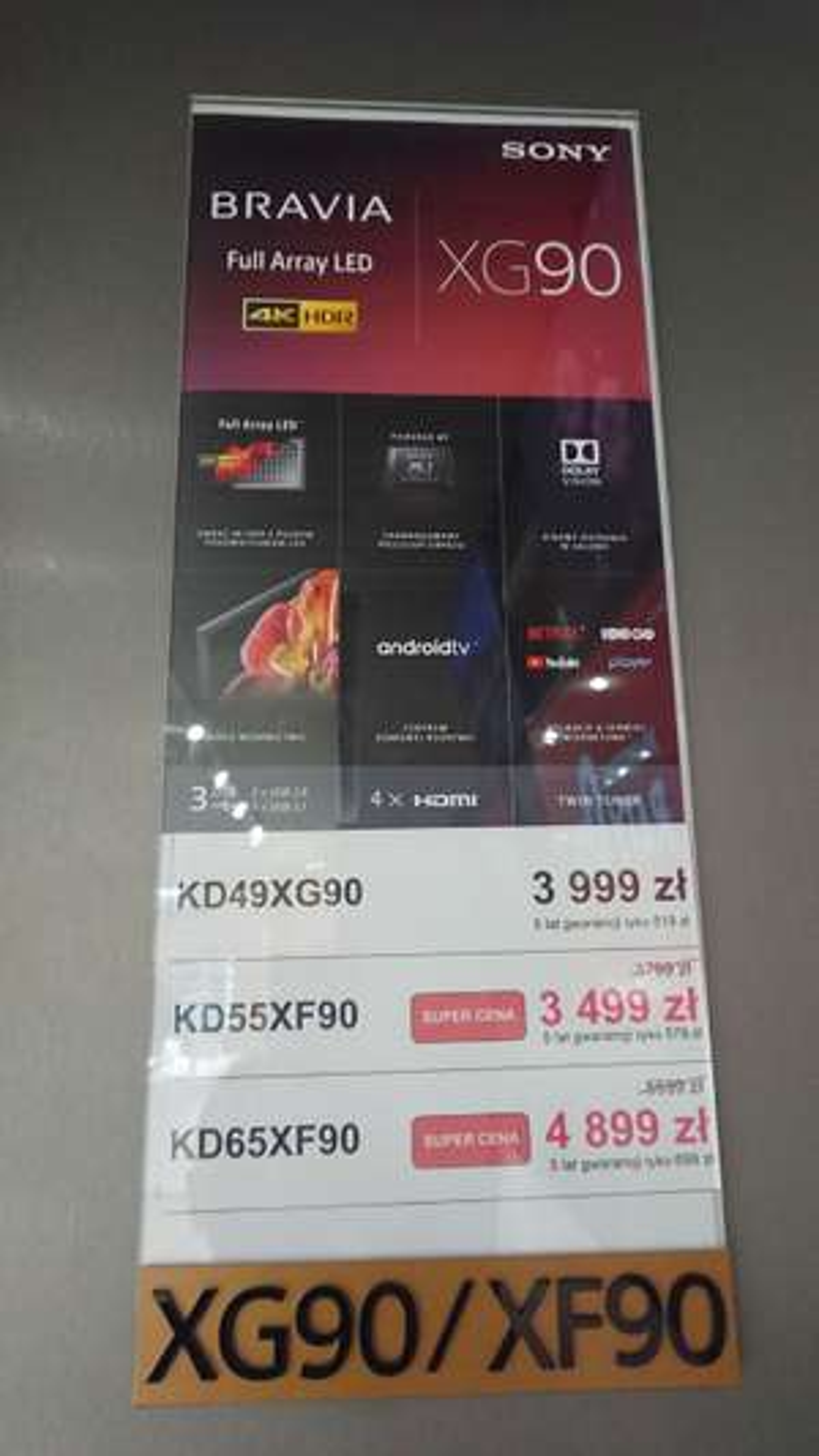 Telewizor Sony Bravia KD65XF90