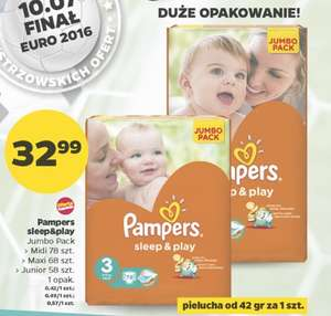 Pieluszki Pampers Sleep&Play Jumbo Pack za 32,99zł @ Netto