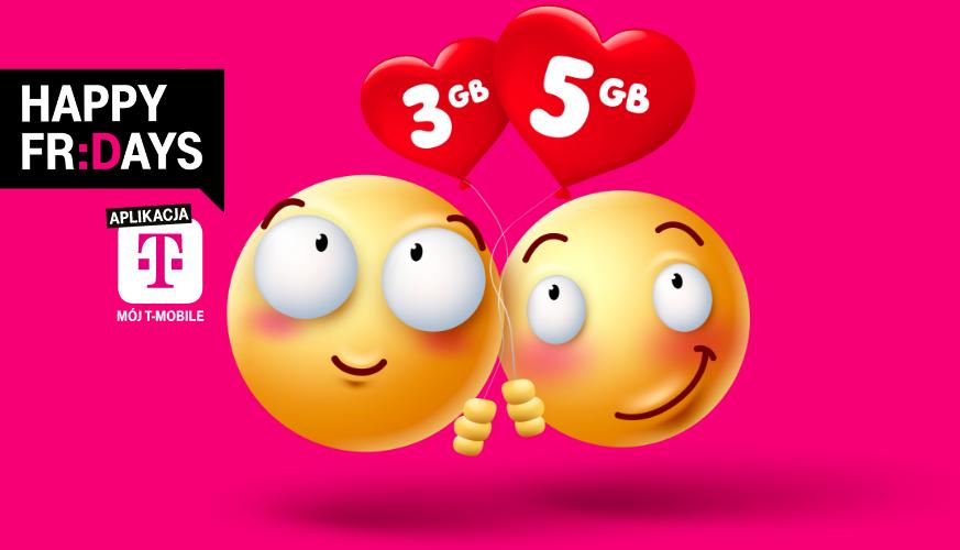 3 GB za darmo w T-Mobile+ 5 GB dla obdarowanej osoby (8GB za darmo)