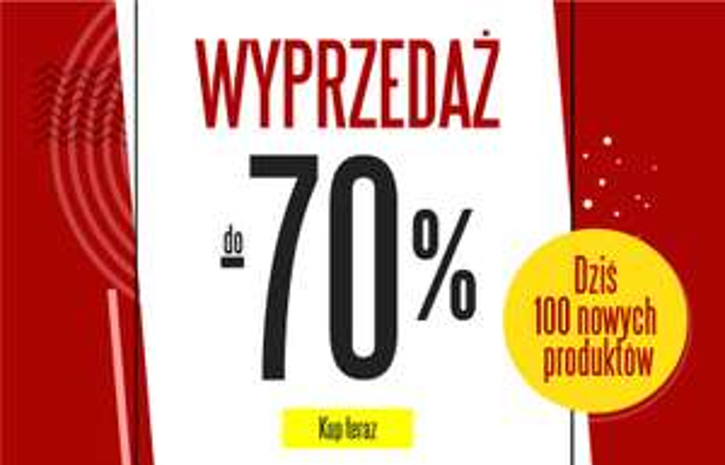Nowe produkty w wyprzedaży -70% na TXM