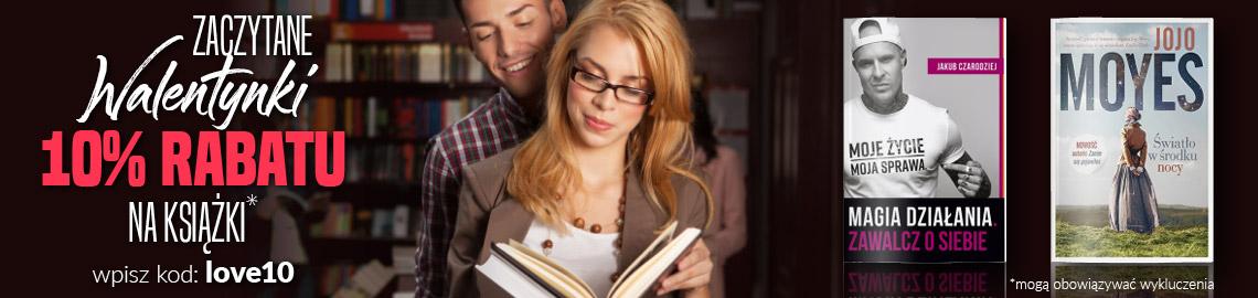 Dodatkowe 10% rabatu na książki w Livro. Zaczytane walentynki.