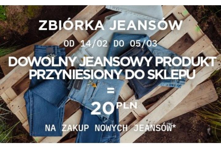 Oddając stare jeansy -bon 20zł na nowe jeansy w Promod