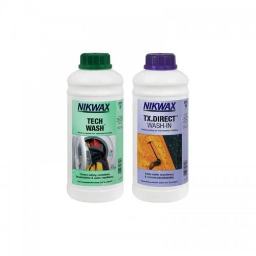 Zestaw do pielęgnacji odzieży i sprzętu outdoor TECH WASH TX.DIRECT Nikwax 2x 1L
