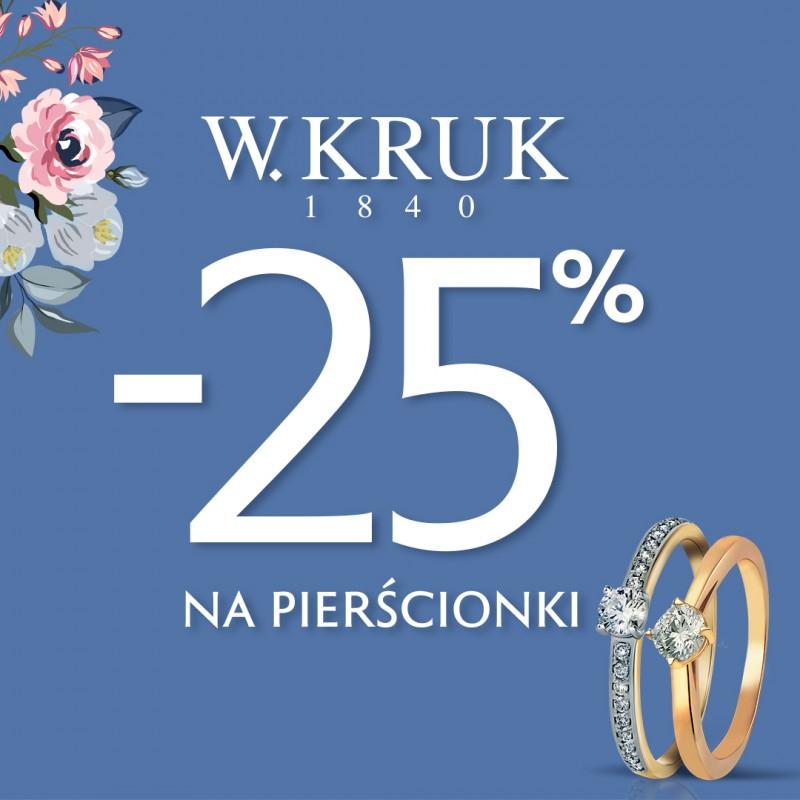 25% rabatu na pierścionki @ W.Kruk