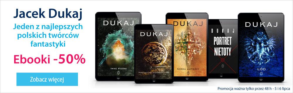 50% rabatu na eBooki oraz Audiobooki Jacka Dukaja @ Virtualo