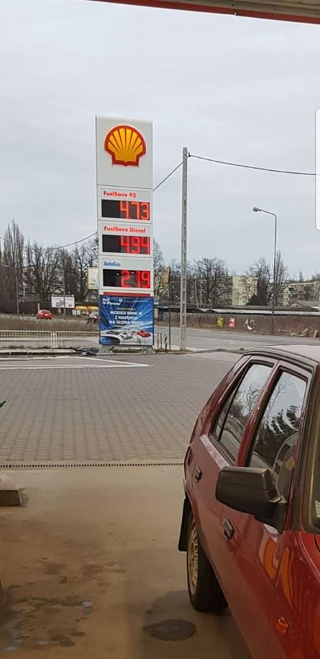 Tanie paliwo 95 Shell (Łódź, ul. Traktorowa) 4,73zł/l