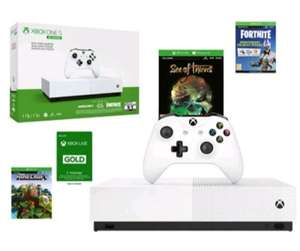 XBOX ONE S KONSOLA 1TB + Minecraft Fortnite SoT