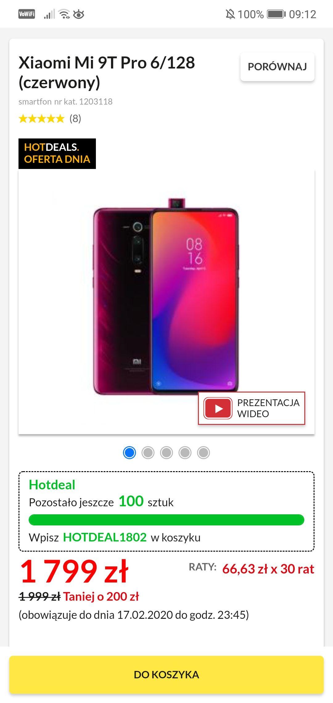 Xiaomi Mi 9T Pro 6/128 (czerwony)