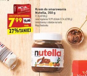 """Nutella słoik 350g w Biedronka z kartą """"Moja Biedronka"""""""