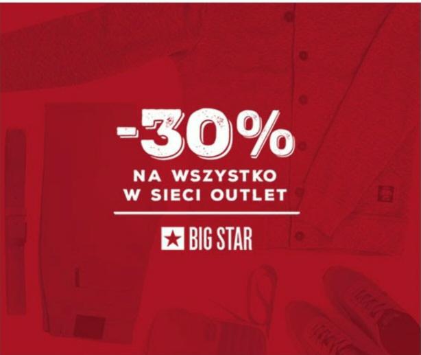 30% taniej na outlet @Big Star