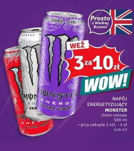 Monster Energy 3 sztuki za 10 zł - Dealz