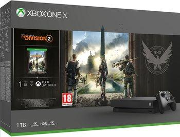 Konsola MICROSOFT Xbox One X, 1 TB + Tom Clancy's The Division 2