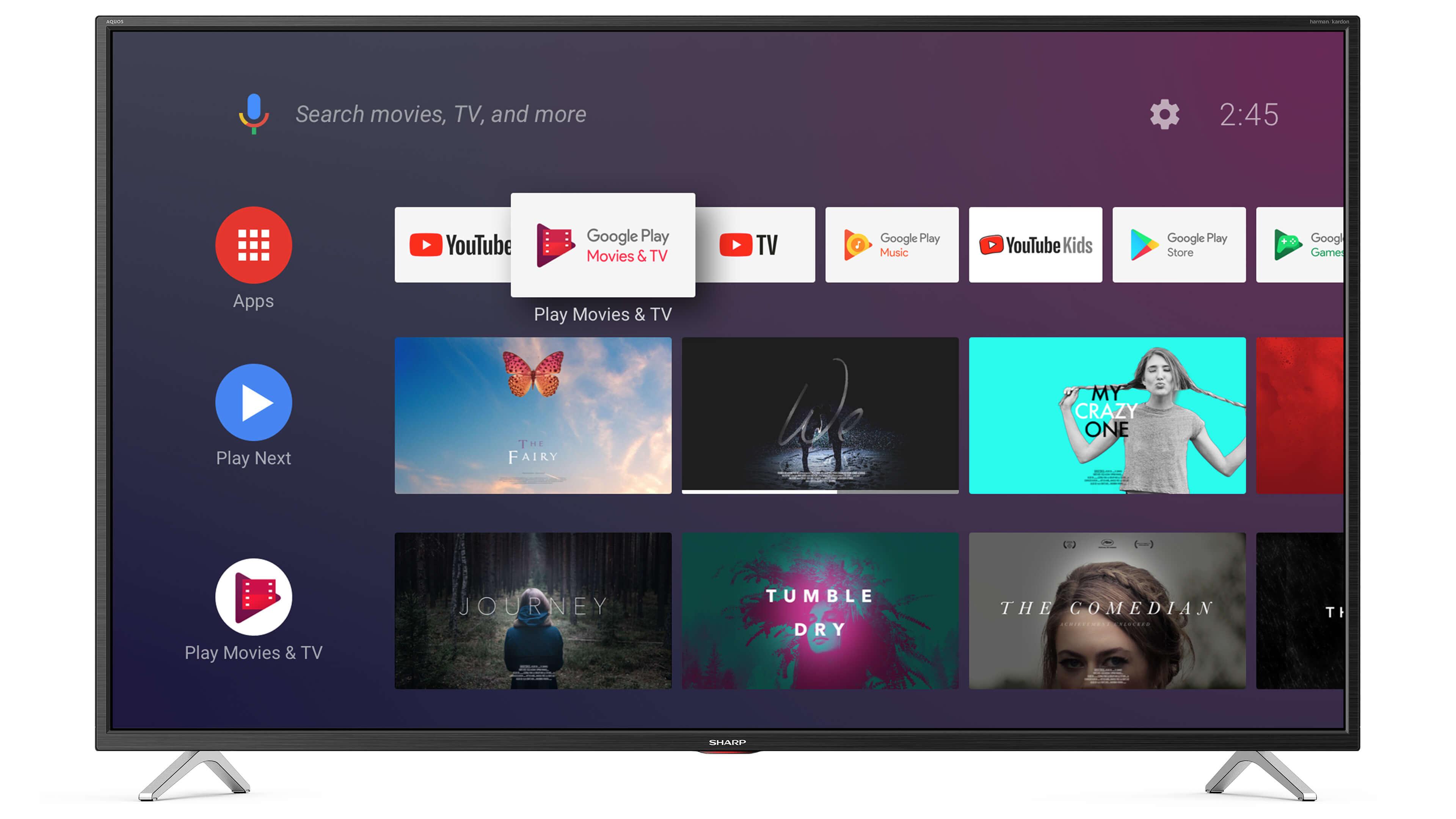 Sharp 40BL5EA najtańszy firmowy telewizor 4K UHD, Active motion 600, Android 9.0
