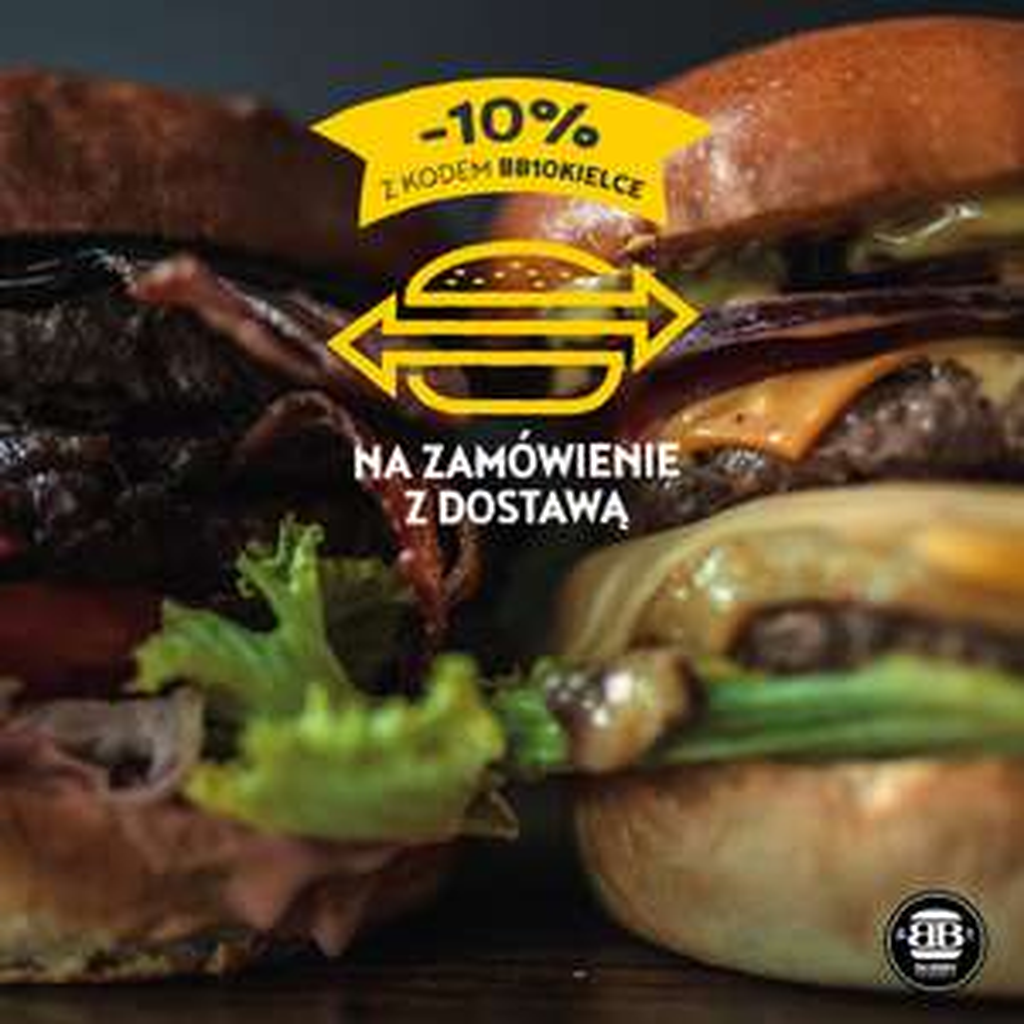 -10% na zamówienie z dostawą - Bobby Burger Kielce