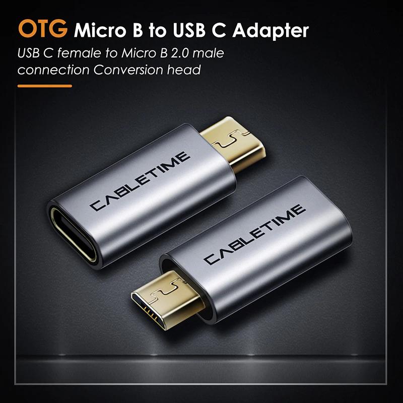 CABLETIME - adapter / przejściówka z USB-C na mcro USB