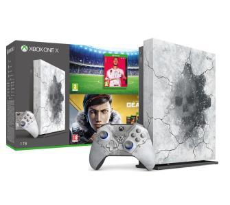 RTVeuroAGD Xbox One X 1TB Edycja Limitowana + Gears 5 Ultimate Edition + kolekcja gier Gears of War + FIFA 20.