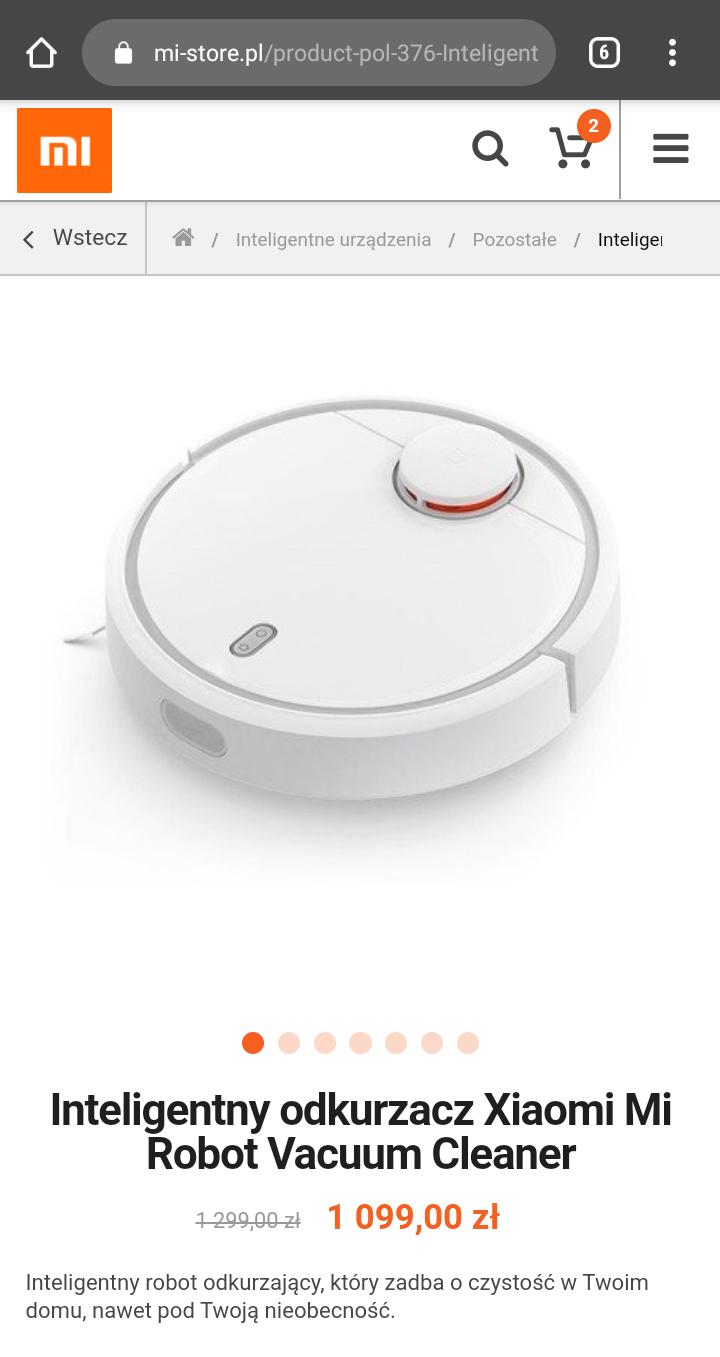 Wysyłka z POLSKI Oficjalny MiStore Inteligentny odkurzacz Xiaomi Mi Robot Vacuum Cleaner